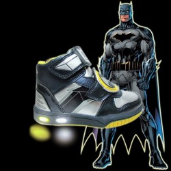 Boys Batman  Luminous High Top Led Shoes - Size 26, 30