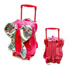 LC Waikiki Butterfly Girls Medium Trolley Backpack