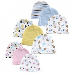 Luvable Friends 3-Pack Infant Caps (0-6mths)- Boy, Girl