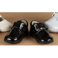 Mabini Infant boys Patent Shoes (size 3-6)- BLACK ONLY