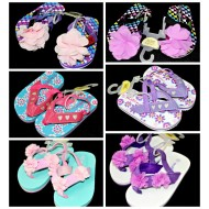 Mabini Baby Girls Flower Eva Sandals with elastic strap -3 designs(size 19,20,21)
