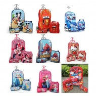 3D Eva trolley 3pcs set- Trolley, Lunchbag & Pencil case- assorted characters