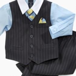 Nautica 4-piece,tie,shirt,pant and waist coat- 5, 6, 7yrs