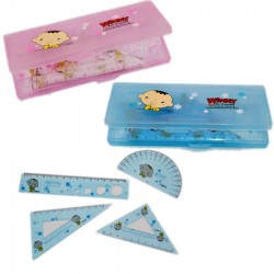 Winny & His Friends 4 Ruler Set- Pink & Blue