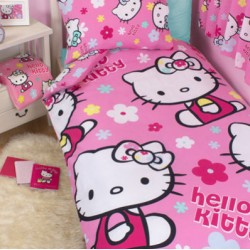 HELLO KITTY SINGLE DUVET SET (includes Duvet & pillowcase)