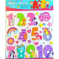 My Little Pony Large Numbers Wall Decals (1-10)3D Alphabet Stickers