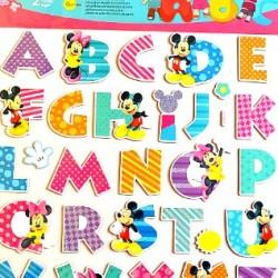 Mickey & Minnie Large ABC Alphabet Wall Decals - 26 A-Z 3D Alphabet Stickers