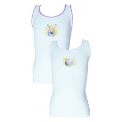 Pack of 2 Frozen Cotton Vests- 18mths-7yrs