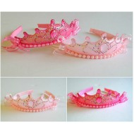 Girls Beaded Tiara Alice Band