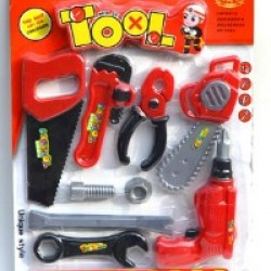 Kids 9pc Worker Tools Set on Card