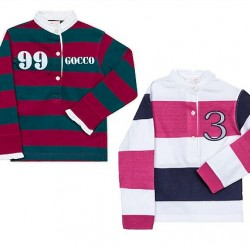 Gocco Girls Striped Polo Long Sleeve (2-7yrs)