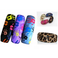 Colorful Printed Clamshell Sunglasses Case- assorted