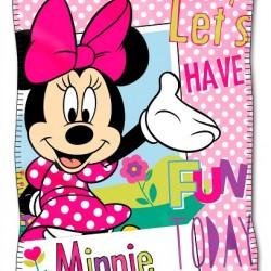 Minnie Mouse Polar Fleece Throw- 115 x 145cm