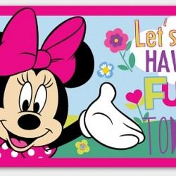 Minnie Mouse Area Rug- Let's Have Fun (80cm x 50cm)