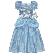 Disney Cinderella Fancy Dress Costume with Crown (3-6 yrs)