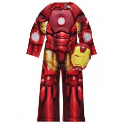 Marvel Avengers Iron Man Fancy Dress Costume with Mask (LIGHT-UP) (2-8yrs)