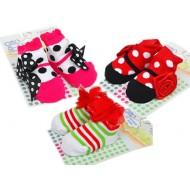 Dressy Infant Girls Georgous Bootie Socks- assorted designs