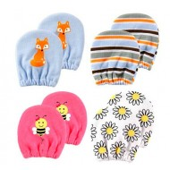 Luvable Friends Baby Scratch Mittens 2-Pack (boys & Girls)0-6mths