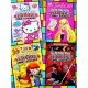 Activity, Games, Fun Sticker Book- Assorted characters