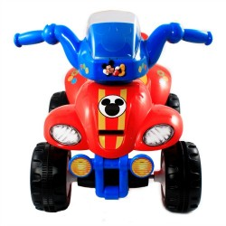 Mickey Mouse Kids Steerable ATV Ride on Toy with Lights and Sounds
