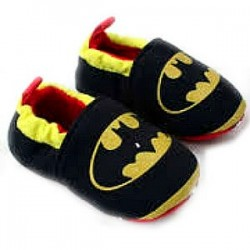 Batman Baby Boy Cotton Crib Prewalker Shoes- Size 1