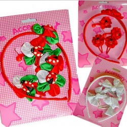 Girls 5pc hair accessories set- 3 designs