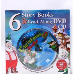 Creative Kids Christmas 6 Story Books & Read-Along DVD/CD Combo