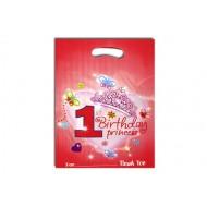 1st Birthday Princess party Loot bags- 6pcs