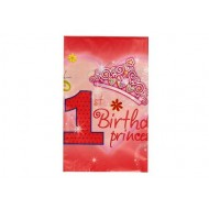 1st Birthday Princess Table Cover
