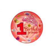 1st Birthday Princess Paper Plate (Set of 6)