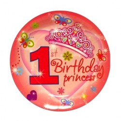 1st Birthday Princess Paper Plate (Set of 6)