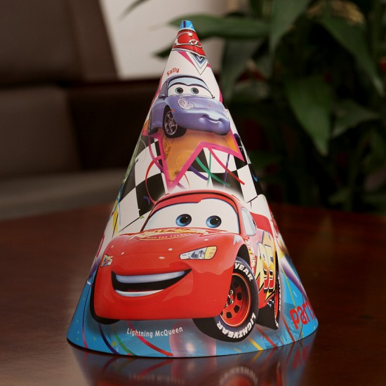 Character 12pack party cone hats - assorted designs