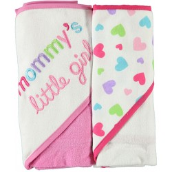 Luvable Friends 2-Pack Infant Hooded Towels (Boys, Girls)