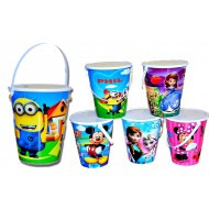 Character Party Favor Bucket with Lid- assorted characters