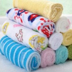 CARTERS 8-PC SOFT BABY WASHCLOTH/ TOWELS - Boys & Girls colours