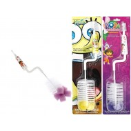 Nickelodeon Dora & Spongebob Baby Bottle Brush