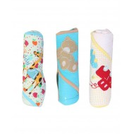 Carters 3 Pack Hooded Towels with Animal Embroidery - assorted designs