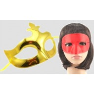 Party metallic Half masks-assorted colours