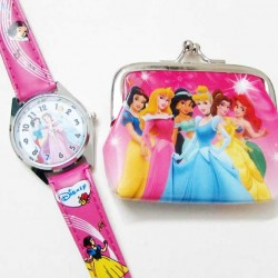 Character Coin Purse & Watch in blister card- assorted