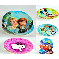 Character Disposable Party plates- Pack of 10 (small)