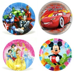Character Disposable Party plates- Pack of 10 (big)