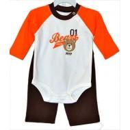 Carters Baby boy 2-Piece Bodysuit & Pant Set - Bears League- 6mths, 9mths