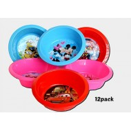 Character Toddler Plastic Bowls- 12pack