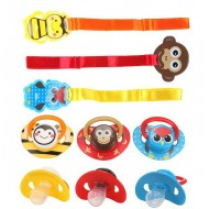 Skittle / Baby Plus Animal Soother & Holder- assorted
