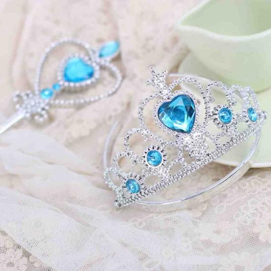 Disney Frozen Heart Rhinestone Tiara & Wand Set