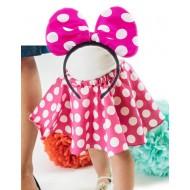 Minnie Mouse Girls Headband & Tutu Skirt Set- 3 colours