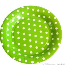 Green Polka Dot Disposable Plates (10pcs)