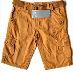Next boys Cargo Shorts with belt- 5-6yrs
