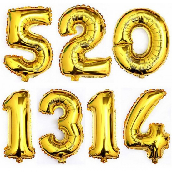Large Number Helium Foil Birthday Balloons