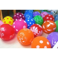 Large Printed Assorted Latex balloons- 12pack